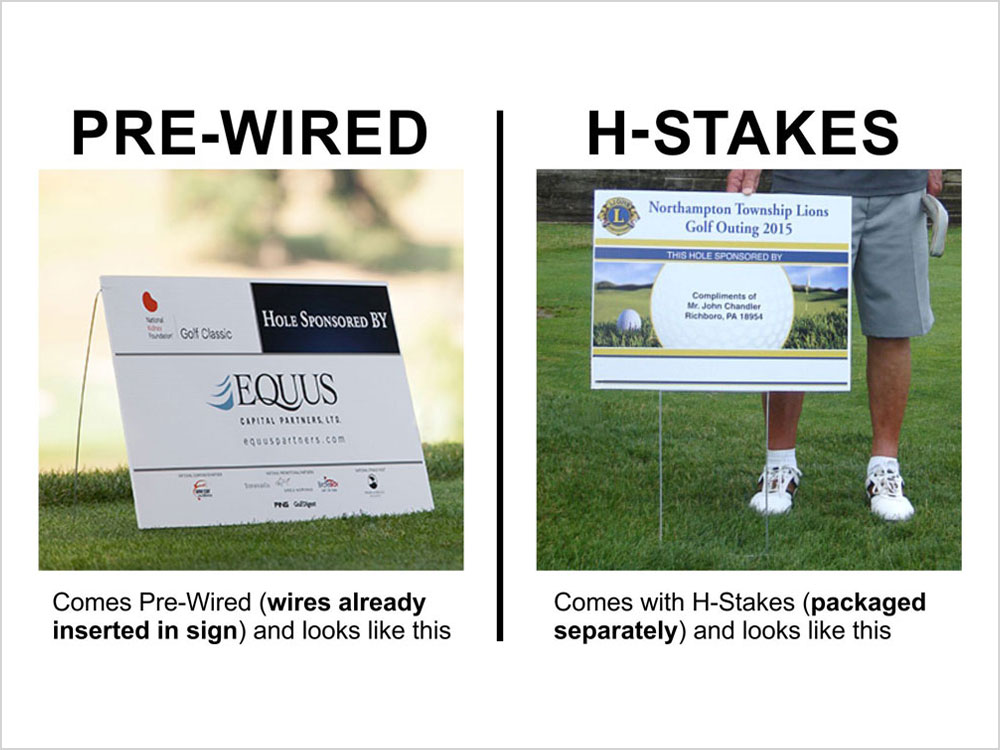 Pre-Wired vs H-Stakes.