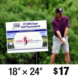 "Golf Tournament Tee Sign Hole Sponsor 18"" x 24"""