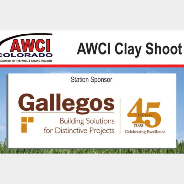 Clay Shoot signs.