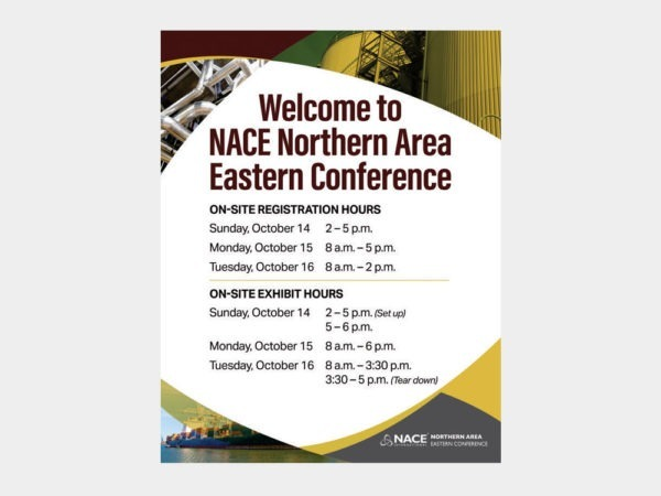 Conference signs.