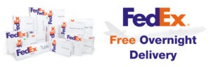 Free FedEx overnight delivery.