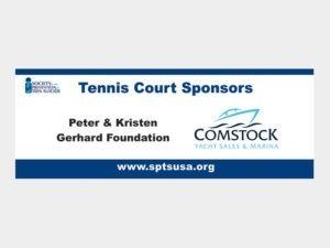 Tennis signs.