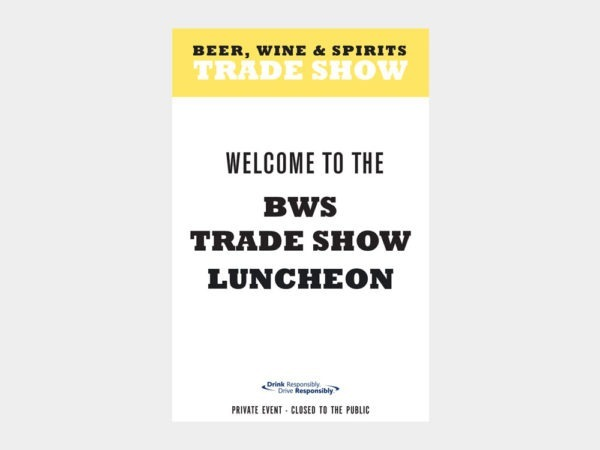 Trade Show signs.